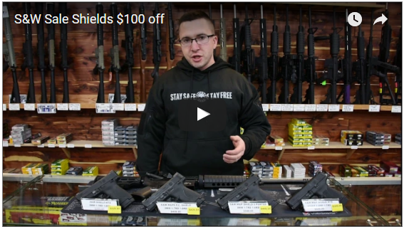 Smith and Wesson Shield up to $100 OFF  – Sale Ended