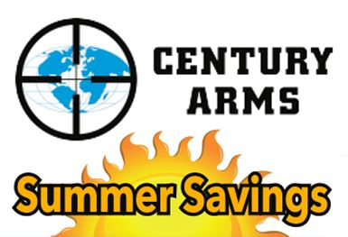 CENTURY ARMS Century Summer Savings $50 Rebate (05/15/2017 – 07/15/2017)