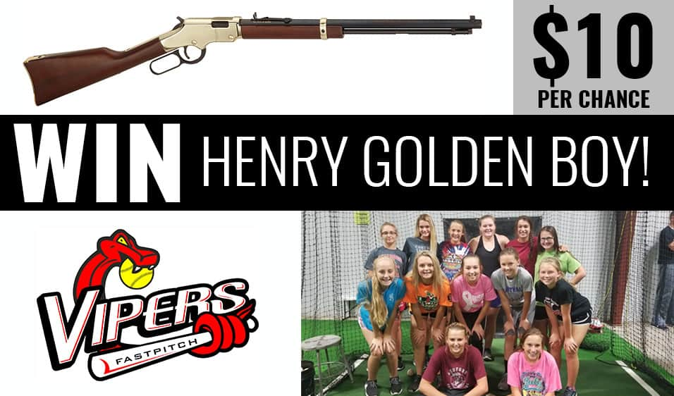 Win a chance at a Henry Golden Boy from Liberty Tree Guns in Carthage, MO to help support Vipers Fast Pitch Softball.
